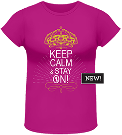 Lucky Bucky Clothing – Keep Calm & Stay On! - Tee For Women