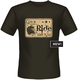 Lucky Bucky Clothing – Live To Ride/Learn To Fall – Unisex Tee